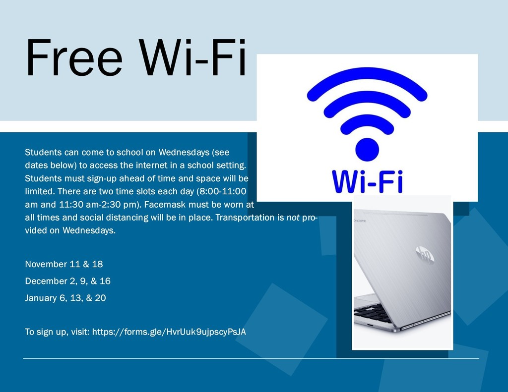 Free Wi-Fi on Wednesday Flyer